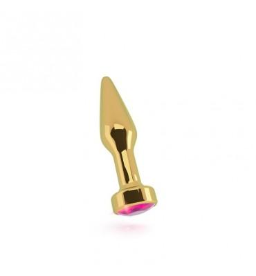 Shots Rich Plug Anal Pink Sapphire 10 cm Dorado